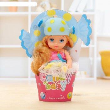 Кукла малышка «конфетка» в платье, цвета микс