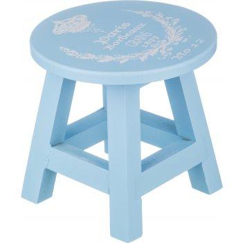 Табурет декоративный голубой 19*19*19 см.без упако...