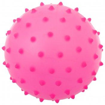Мячик массажный цветной матовый пластизоль d=8 см 15 гр, цвета микс