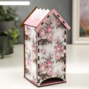 Чайный домик розы кружево 20 см