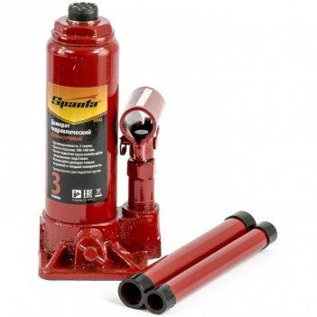 Домкрат гидравлический бутылочный, 3т, h подъема 180-340 мм sparta