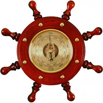 Шбст-с08 штурвал сувенирный, барометр (8 ручек)