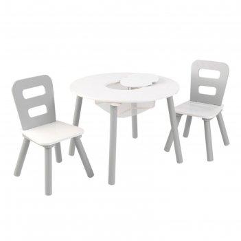 Стол + 2 стула «сердце»