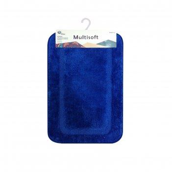 Коврик для ванной multisoft, 50х80 см, микрофибра плюш, ворс 20мм, цвет го