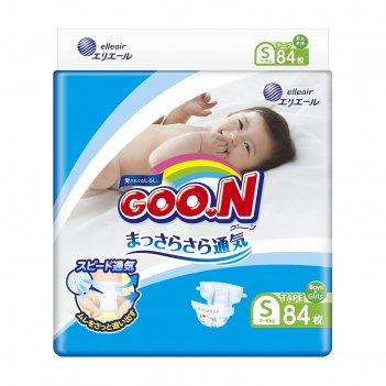 Подгузники goo.n s (4-8 кг), 84 шт.