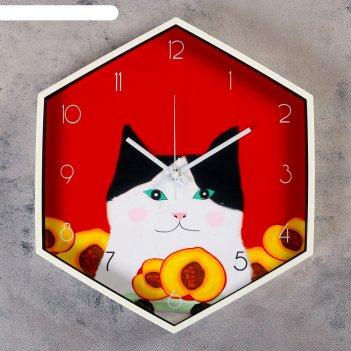 Часы настенные, серия: детские, персик, 34х41 см