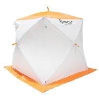 Палатка призма 170 (3-сл) стежка 210/100 стандарт композит, бело-оранжевая