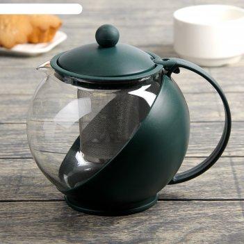 Чайник заварочный 1,25 л забота, коричневый