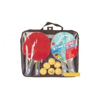 Набор startline 100x2 (4 ракетки, 6 мячей, сетка, сумка на молнии)