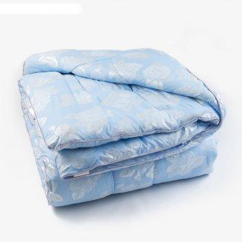 Одеяло лебяжий пух 200х220 см, 300г/м2, чехол тик пуходержащий