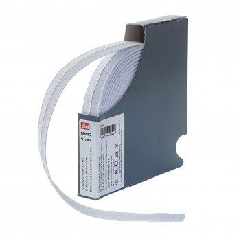 Эластичная лента с прорезными петлями, тканая, 18мм*10м, цвет белый