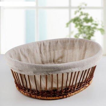 Корзина для хранения бамбук, овальная
