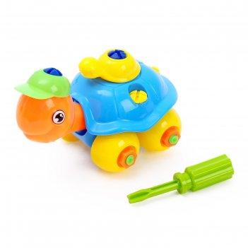 Конструктор для малышей черепашка, цвета микс