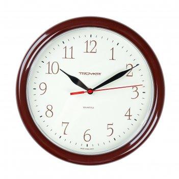 Часы настенные круглые every day, d=24,5 см, кремовый циферблат, рама кори