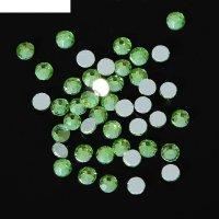 Стразы для ногтей peridot, №4, цвет светло-зелёный