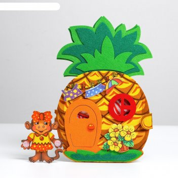 Развивающая книжка из фетра «ананас»