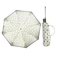Зонт 23, полный автомат, атласный (горохи на белом)