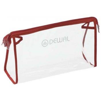 Косметичка прозрачно-красная 25х8х15 cm