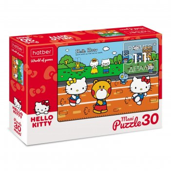 Макси-пазл 30 элементов hello kitty