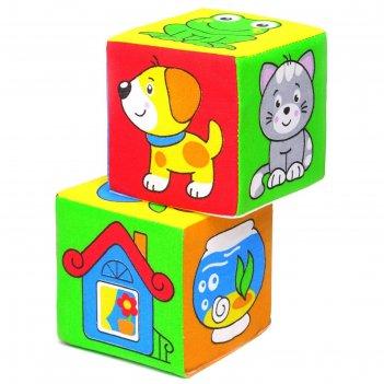 Развивающая игрушка - кубики чей домик?