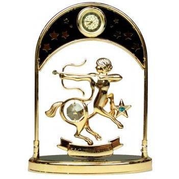 Фигурка декоративная с часами - знак зодиака стрелец 14см (у