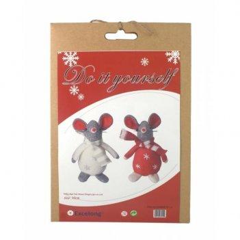 Набор для творчества мышка (2шт), (детали, нитки, наполнит...