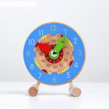 Детские обучающие часы учим время 11х3х14 см микс