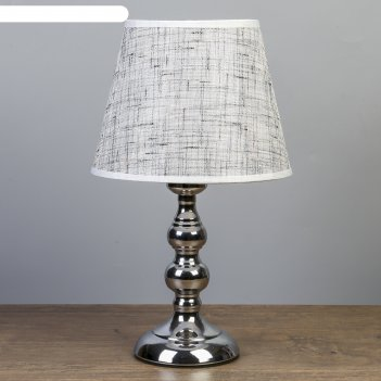 Лампа настольная адель 1х40вт е27 220в серебро 21х21х37 см