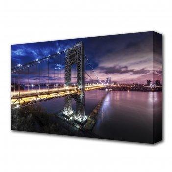 Картина на холсте манхэттен-бруклинский мост 60*100 см