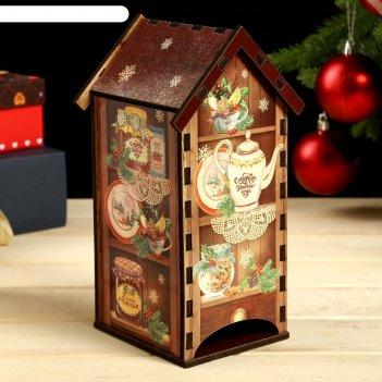 Чайный домик домик с полками 20х8,6 см