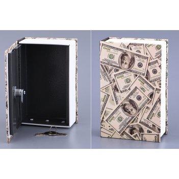 Стальной ящик для хранения с замком 18*12*5,5 см.(...