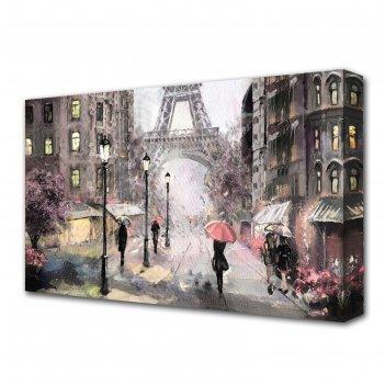 Картина на холсте воспоминания парижа