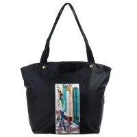 Сумка женская модница, 1 отдел, наружный карман, на подкладе, цвет чёрный