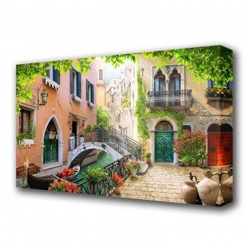 Картина на холсте дворик в венеции