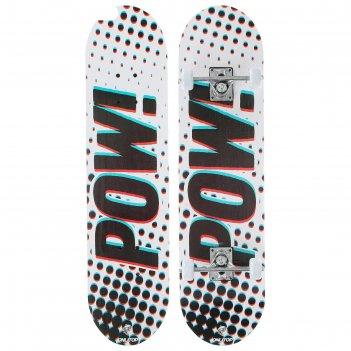 Скейтборд подростковый pow 71 x 20 см, колёса pvc 50 мм, пластиковая рама