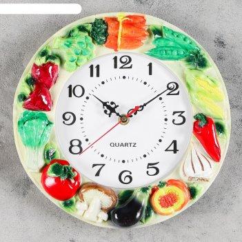 Часы настенные, серия: кухня, тимбаль, d=20 см, ручная работа