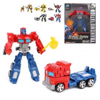 Трансформер робот, оружие в комплекте, коробка, в ассортименте