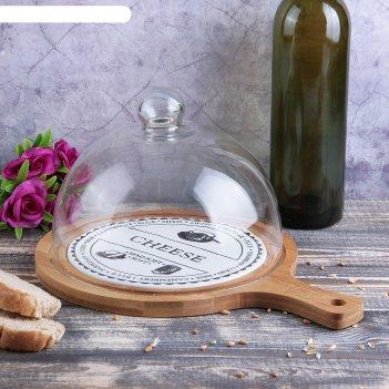 Блюдо с крышкой для сыра эстет 31,5х23х18 см