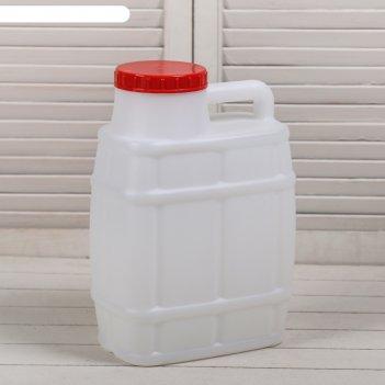Канистра пищевая «бочонок», 10 л, белая