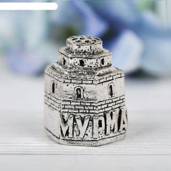 Наперсток сувенирный «мурманск» сер., 2,6 х 3,3 см