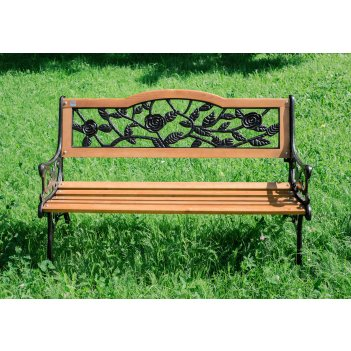 Чугунная садовая скамейка g-334