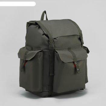 Рюкзак тур универ, 38*26*63, 78л, отдел на шнурке, 3 н/кармана, хаки