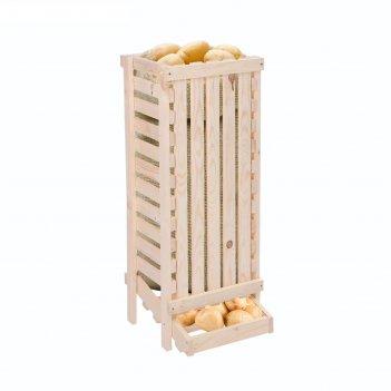Ящик для овощей, 30 x 40 x 100 см, деревянный