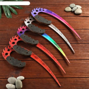 Сувенир деревянный нож 3 модификация, 5 расцветов в фасовке, микс