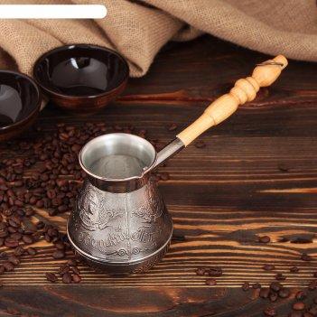 Турка для кофе медная «петр i», 0,4 л