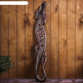 Панно настенное геккон народный 14х1х100 см