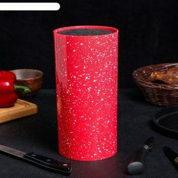 Подставка под ножи красный гранит, с наполнителем