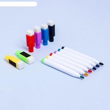 Маркер цветной на водной основе, набор 6 шт