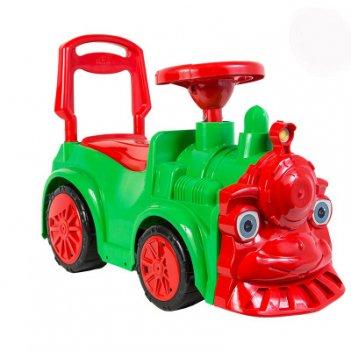 Ор761 каталка-машинка паровозик orion, зелёный