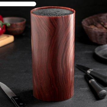 Подставка для ножей дерево 22х11 см, с наполнителем